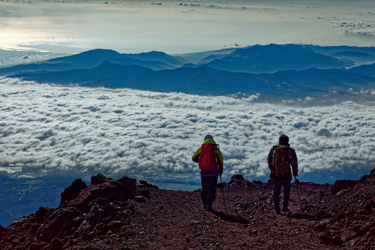 El alpinismo del monte Fuji