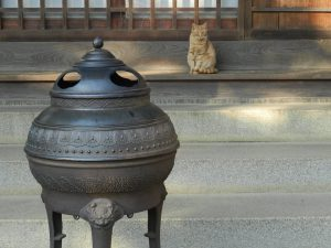 El templo budista Muryouji con animales