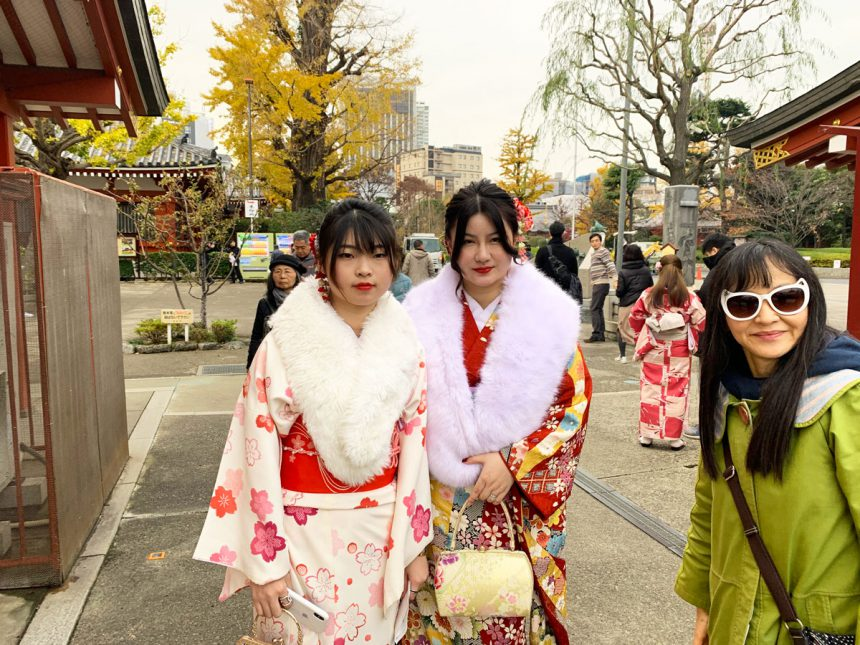 kimono en asakusa